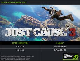 pubg 970 settings geforce gtx 970 nvidia s recommended gpu for just cause 3 geforce