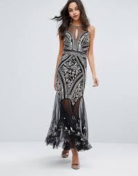 selfridges wedding dresses miss selfridge miss selfridge embellished mesh maxi dress