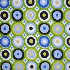 Green Kids Curtains Oasis Green Retro Circles In Green Kids Fabric For Kids Curtains