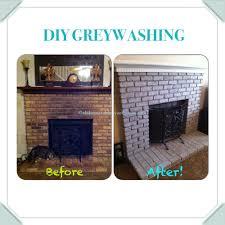 diy tutorial fireplace brick greywashing alabama table