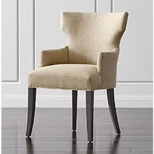 dining chairs with arms crate and barrel