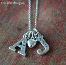 custom necklace charms sted necklace custom personalized sterling silver letter