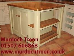 murdoch troon freestanding painted pine kitchen island unit oak