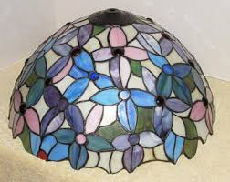 vintage stained glass lamp etsy
