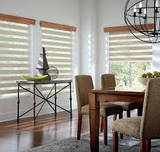 Costco Graber Blinds Decor Cool Dining Room With Mezzanine Layered Shades Graber Blinds
