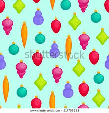set three hanging ornaments vector stock vector
