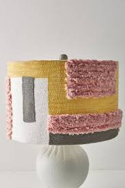 tufted colorblock lamp shade anthropologie