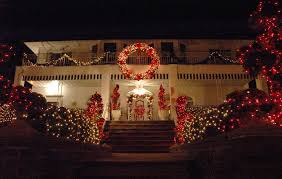 outdoor christmas garland with lights sparkling image outdoor lighted decorations images diy outdoor