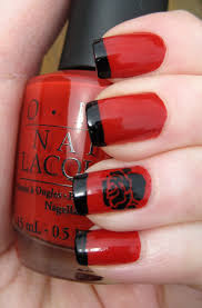 black and red nail designs how you can do it at home pictures