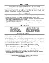 Sample Financial Controller Resume by 6 Financial Resume Sample Applicationsformat Info