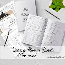 wedding planner binder wedding planner 2018 bundle printable wedding planner