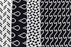 Black And White Designs Bitmap Textiles Napkins Black White U2013 Areaware