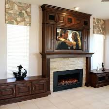 electric fireplace wall mount costco with mantel and storage