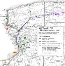 Buffalo New York Map New York State Buffalo Interurbans