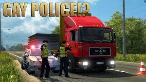 mod car game euro truck simulator 2 ets2 man f90 police euro truck simulator 2 youtube