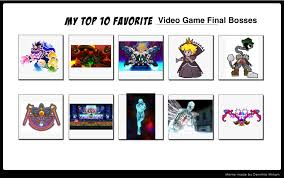 Top 10 Video Game Memes - my top 10 video game final bosses by annonmyous on deviantart