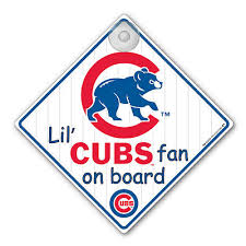 Chicago Cubs Crib Bedding Chicago Cubs Car Window Baby On Board Sign Infant Ebay