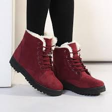 womens boots winter winter boots plush keep warm womens cotton padded shoes