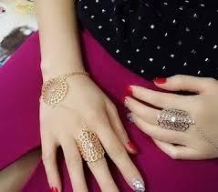 bracelet with ring designs images Latest gold finger ring designs hollow sun shape gold women 39 s jpg