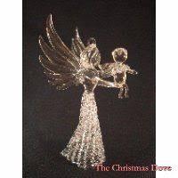 nativity in an egg shaped house spun glass ornament spun glass