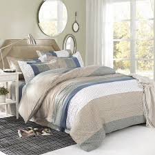Quilted Duvet Cover King Marble Grey Single Double Queen King Size Bed Set Pillowcases