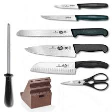 victorinox kitchen knives sale victorinox fibrox pro 13 knife set w swivel block on sale