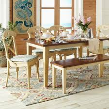 our carmichael table and bench are rustic and old world built of
