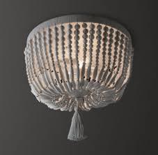 wood flush mount ceiling light dauphine wood flushmount weathered white
