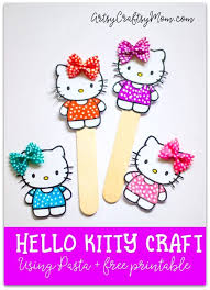 super cute kitty craft bookmark pasta free printable