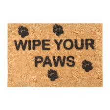Wipe Your Paws Dog Doormat Buy Artsy Doormats Wipe Your Paws Door Mat Amara