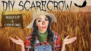 plaid shirt halloween costumes halloween scarecrow makeup u0026 diy costume youtube