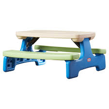 little tikes fold u0027n store picnic table with market umbrella