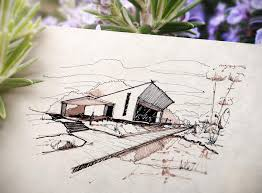 published sketch like an architect step by step from lines to