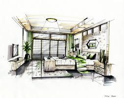 Bedroom Interior Design Sketches 36 Best Perspective Drawings Bedroom Images On Pinterest