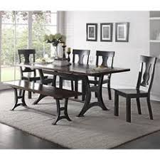 acme wallace dining table weathered blue washed acme united acme united wallace weathered blue washed 6pcs dining