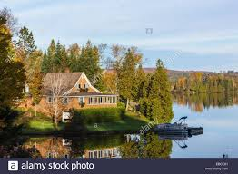 Vermont House House On The Shore Of Joes Pond Vermont Usa Stock Photo Royalty