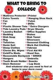 College Packing Checklist 25 Best What To Bring To College Images On Pinterest College