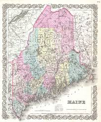 map of maine cities file 1855 colton map of maine geographicus maine colton 1855