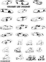 dessin de voiture de course a colorier