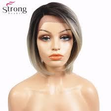 women s bob hairstyle strongbeauty women u0027s synthetic kanekalon lace front wig dark roots