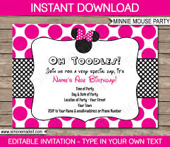 R S V P Means Invitation Cards Minnie Mouse Invitation Card Layout Party Invitations Ideas
