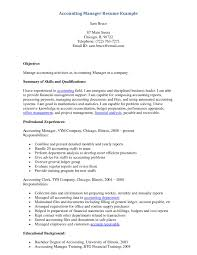 Example Training Coordinator Resume Example Accounting Manager Resume Http Www Resumecareer Info