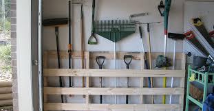 Diy Garden Tool Storage Ideas Garage Storage For Garden Tools From Pallet Hometalk