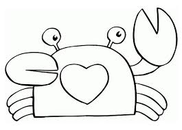 cute crab coloring pages for children animal coloring pages of