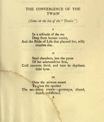 Opulent Used In A Sentence The Convergence Of The Twain U201d Thomas Hardy U0027s U201ctitanic U201d The Era
