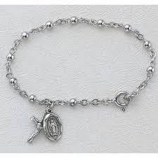 baby rosary 5 1 2 in sterling baby rosary bracelet boxed christian catholic shop