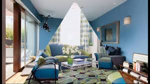 Living Room Blue Sofa by Modern Living Room With Blue Sofa Youtube