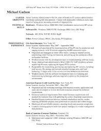 Resume Of Network Administrator Model Resume For Windows System Administrator Essay On Ts Eliot