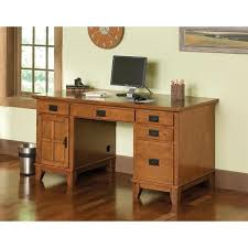 Computer Desk Styles Arts And Crafts Cottage Oak Pedestal Desk By Home Styles Free