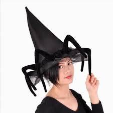 Spider Witch Halloween Costume Halloween Witches Hats Girls Creative Black Spider Hats
